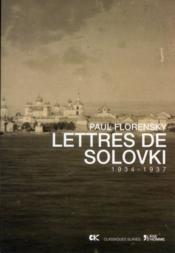 Lettres de Solovki - Couverture - Format classique