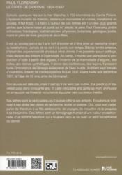 Lettres de Solovki - 4ème de couverture - Format classique