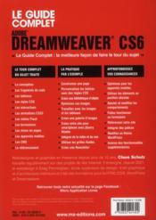 Dreamweaver CS6 - 4ème de couverture - Format classique