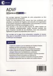 ADVF ; assistant de vie aux familles ; préparation aux CCP 1, 2 et 3 - 4ème de couverture - Format classique