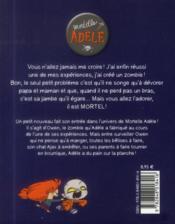 Mortelle Adèle T.6 ; un talent monstre ! - 4ème de couverture - Format classique