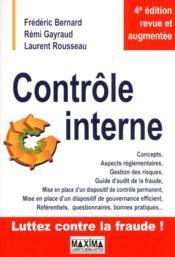 Contrôle interne (4e édition) - Couverture - Format classique