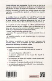 Contrôle interne (4e édition) - 4ème de couverture - Format classique