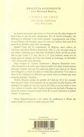 L'étoile de craie ; une liaison clandestine avec Paul Celan - 4ème de couverture - Format classique