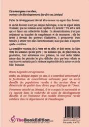 Dynamiques rurales ; moteurs de développement rural au Sénégal - 4ème de couverture - Format classique