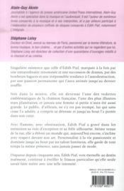 Edit Piaf ; un destin rose obscur - 4ème de couverture - Format classique