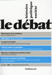 Revue Le Débat N.182 - Couverture - Format classique