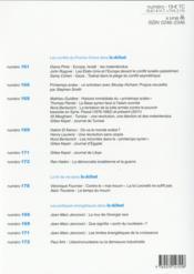 Revue Le Débat N.182 - 4ème de couverture - Format classique