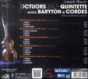 Joseph Haydn ; octuors et quintette avec baryton à cordes - 4ème de couverture - Format classique