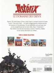Astérix ; le domaine des Dieux ; l'album luxe - 4ème de couverture - Format classique