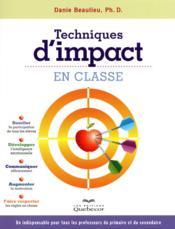 Techniques d'impact en classe 2ed - Couverture - Format classique