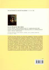 A La Place Du Roi - 4ème de couverture - Format classique