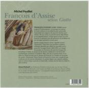 François d'Assise selon Giotto - 4ème de couverture - Format classique
