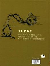 Tupac t.1 ; julia - 4ème de couverture - Format classique