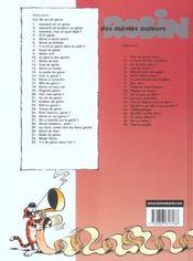 Léonard t.18 ; génie en sous-sol - 4ème de couverture - Format classique