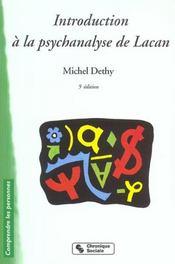 Introduction A La Psychanalyse De Lacan 5e Edition - Intérieur - Format classique