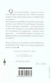 Lettre A Un Adolescent Sur Le Bonheur - 4ème de couverture - Format classique