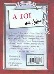 A Toi Que J'Aime Ned - 4ème de couverture - Format classique