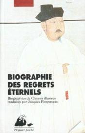 La biographie des regrets éternels - Couverture - Format classique