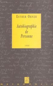 Autobiographie de personne - Couverture - Format classique