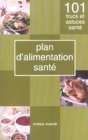 Plan d'alimentation sante - Intérieur - Format classique