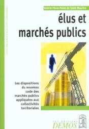 Elus Et Marches Publics - Couverture - Format classique