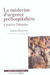 La Medecine D'Urgence Prehospitaliere - Intérieur - Format classique