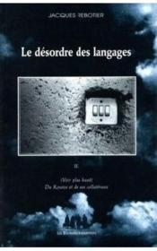 Le désordre des langages t.3 - Couverture - Format classique