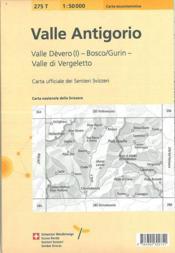 Valle Antigorio ; 275T - 4ème de couverture - Format classique