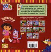 Dora et son doudou - 4ème de couverture - Format classique