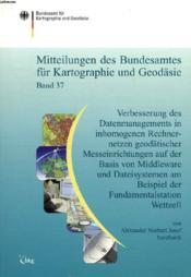 Mitteilungen Des Bundesamtes Fur Kartographie Und Geodasie, Band 37 - Couverture - Format classique