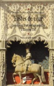 Fastes de cour ; les enjeux d'un voyages princier à Blois en 1501 - Couverture - Format classique
