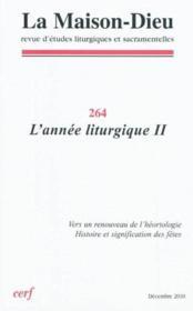 Revue La Maison-Dieu N.264 - Couverture - Format classique