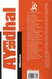 L'Histrion - 4ème de couverture - Format classique