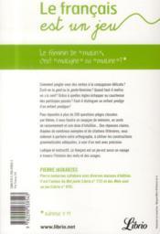Le francais est un jeu - 4ème de couverture - Format classique