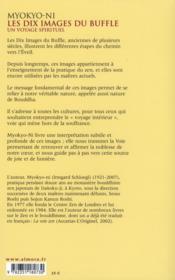 Les dix images du buffle ; un voyage spirituel - 4ème de couverture - Format classique