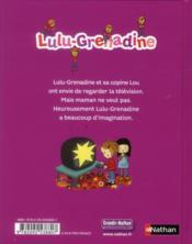 Lulu-grenadine aime trop la télévision - 4ème de couverture - Format classique