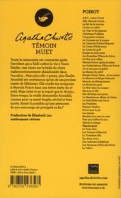 Témoin muet - 4ème de couverture - Format classique