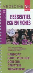 Essentiel Ecn En Fiches Vol2 - Couverture - Format classique