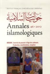 Annales Islamologiques 46 - Couverture - Format classique