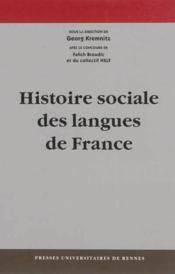 Histoire sociale des langues de france - Couverture - Format classique
