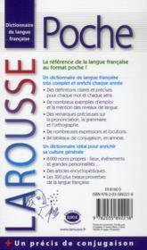 LAROUSSE DE POCHE (édition 2014) - 4ème de couverture - Format classique