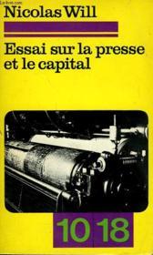 Essai Sur La Presse Et Le Capital Suivi De Les Journalistes Dans La Contre-Revolution Par Cezar Marinori - Couverture - Format classique