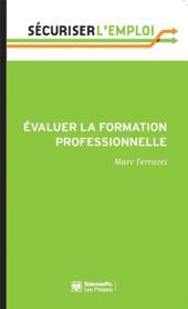Évaluer la formation professionnelle - Couverture - Format classique