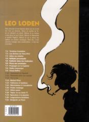 Léo Loden ; INTEGRALE VOL.4 ; T.10 A T.12 - 4ème de couverture - Format classique