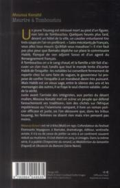 Meurtre à Tombouctou - 4ème de couverture - Format classique