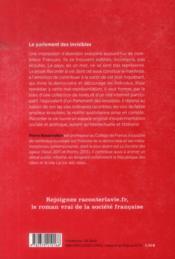 Le parlement des invisibles - 4ème de couverture - Format classique