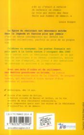Résistez ; combattre pour la liberté : Char, Aragon, Eluard et tous les autres - 4ème de couverture - Format classique