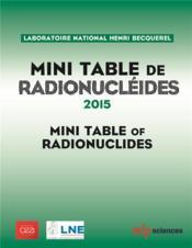 Minitable de radionucléides ; 2014 - Couverture - Format classique