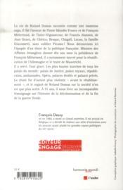 Roland Dumas ; le diplomate virtuose - 4ème de couverture - Format classique